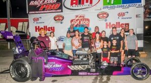 Win #2 for the season for Nostalgia Drag Racing! Pro 7.50 National Hot Rod Reunion winner, rolling on Race Star Pro Forged Wheels!